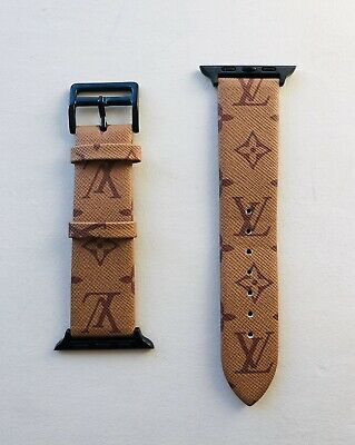 Rare One Of A Kind Louis Vuitton Custom Apple Watch 42/44 Band Strap - BRAND NEW