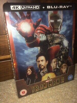 Iron Man 2 4k UHD Blu Ray Steelbook New & Sealed Zavvi Exclusive PRE-ORDER