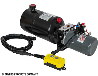 BUYERS PU319LRSA 3-Way DC Power Unit with 1.50 Gal Steel Res Electric Control