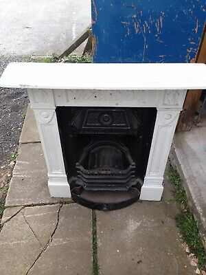 Reclaimed Cast Iron Victorian Fireplace Surround Complete With Grate
