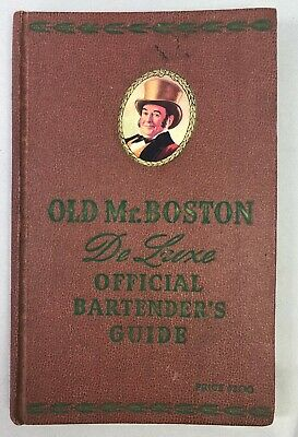 1955 OLD Mr BOSTON Official BARTENDER's GUIDE Bar Cocktail Recipes Book