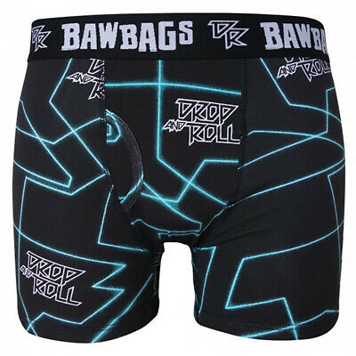 Bawbags NEW Men's Drop And Roll Live Boxer Shorts Blue BNWT