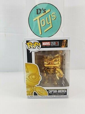 FUNKO POP! Marvel MCU The First 10 Years Captain America (Gold Chrome) #377