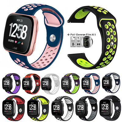 For Fitbit Versa Sport Band Small Large Fitness Silicone TPU Strap Replacement