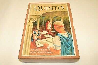 QUINTO - 1964 3M BOOKSHELF BOARD GAME - In Very Good Condition ALL PIECES