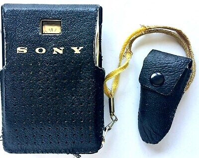 Vintage 1962 Sony Japan Tr-630 6 Transistor Radio And Ear Phone In Case ~ Works!
