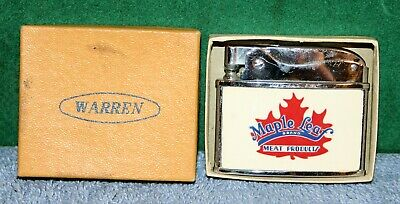 Vintage Warren Cigarette Lighter - Maple Leaf Brand Meat Products