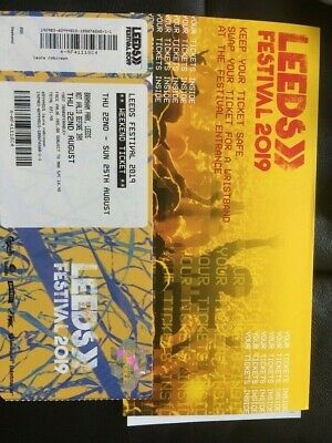 Leeds Festival 2019 Full Weekend Ticket