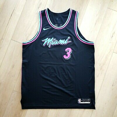 official photos 647ab 109e4 100% AUTHENTIC DWYANE Wade Nike Miami Heat City Jersey Size 56 2XL Mens -  vice
