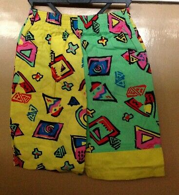Vintage Kids 80s Print Shorts St Michael Size 7-8 Years Old
