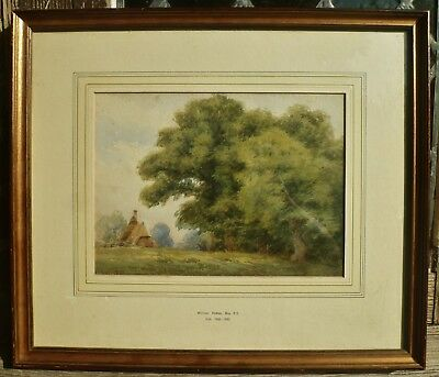 WILLIAM HOLMES MAY framed antique Victorian 19th century signed 1880 watercolour