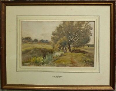 WILLIAM HOLMES MAY framed Victorian 19th century signed 1892 watercolour Bury