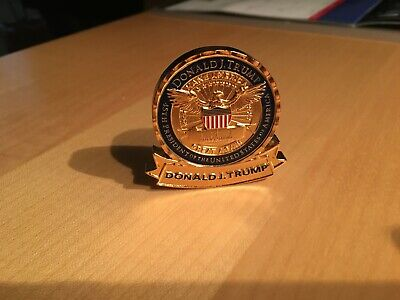 """**THE HOLY GRAIL**  100% REAL President Donald Trump """"PERSONAL"""" Challenge Coin"""