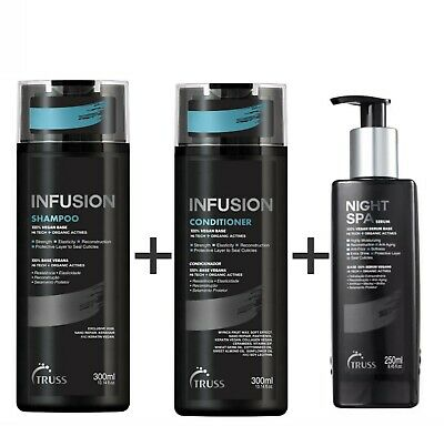 Shampoo Infusion + Conditioner Infusion + Night Spa by Truss Professional