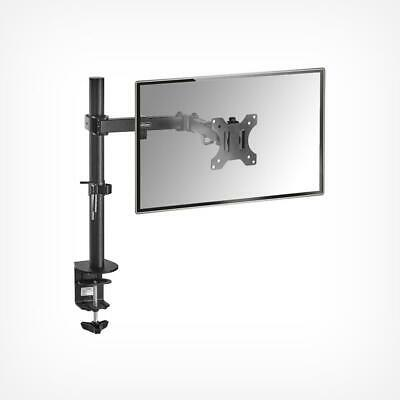 Monitor Mount With Desk Clamp Fully Adjustable Single Arm Stand Bracket