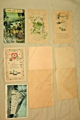 Postcards Holiday Greetings Misc Card WASHINGTON 2 CENT / FRANKLIN 1 CENT STAMPS