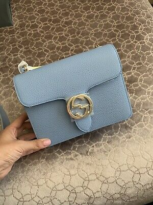461a7b9a NEW/AUTHENTIC GUCCI 510304 Interlocking Leather Chain Crossbody Bag ...