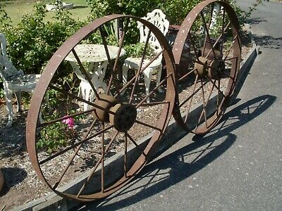 Vintage Harvester, Wagon Wheels Steel, Antique, retro,Collectibles, Garden Art