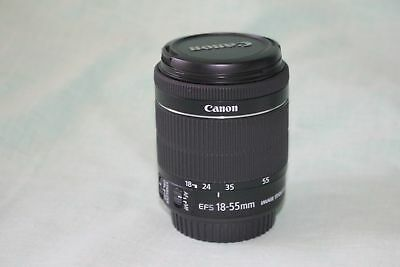 EXCELLENT Canon EF-S 18-55mm f/3.5-5.6 STM lens With Lens Pen. Free shipping!