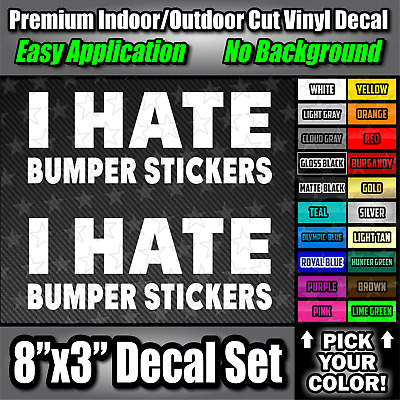 I hate people funny truck car window sticker decal #773