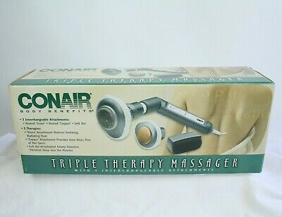 Conair Body Benefits Triple Therapy Massager Heated Stone Copper Soft Gel NEW