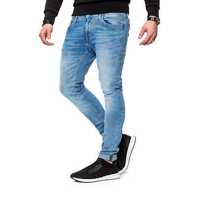 Jack & Jones Uomo Jeans Pantaloni da Uomo Slim Fit Skinny Jeans Denim Used Look