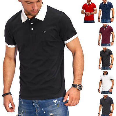 Jack & Jones Men's Polo Shirt short Sleeve Shirt Men's Shirt T-Shirt Top