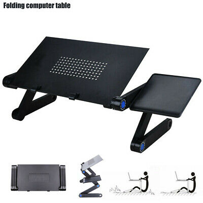 Foldable Bed Stand Laptop Desk Mouse Portable Holder Desktop Accessories Tray AU
