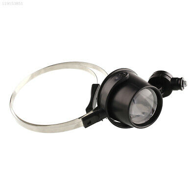 DD0C New Portable 15X Head Band Eye Led Magnifier Loupe Jewelers Circuit