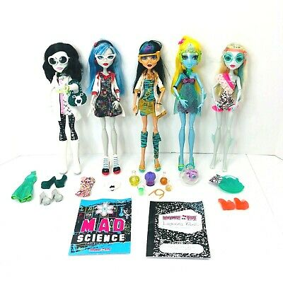 Monster High Doll Lot Of 5 and Accessories!