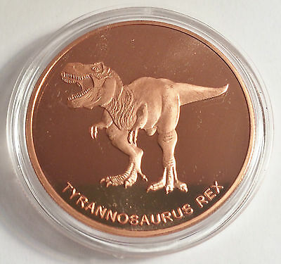 "T-Rex 1 OZ Pure 999.0 Copper Bullion Dinosaur Coin ""4 To Collect"""