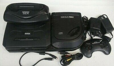 SEGA GENESIS CD 32x Console Trio Model 1 & 2 Bundle - $89 90