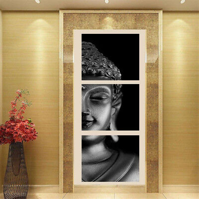 3Pcs Buddha Abstract Oil Canvas Painting Print Picture Home Wall Decor