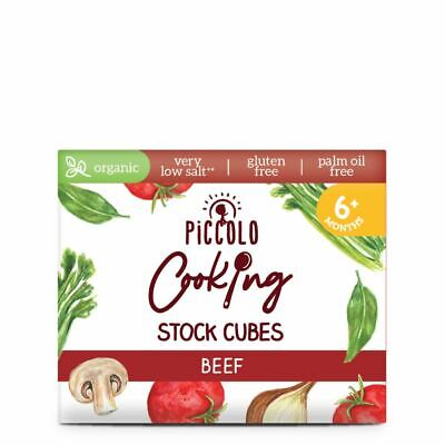Piccolo Cooking Stock Cubes Beef 6x8g  (Pack of 15)