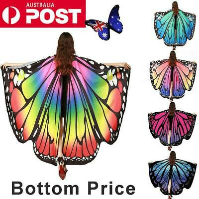 Adult Fairy Butterfly Wings Dress Costume Pretend Play Shawl Scarf Birthday Xmas