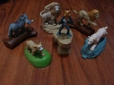 MCDONALDS LION KING HAPPY MEAL TOYS 6 pc PRIDE ROCK SET