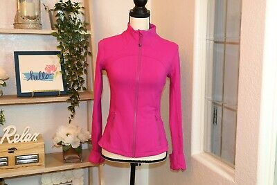 Lululemon Womens Neon Pink Full Zip Define Jacket tagless, Size 6