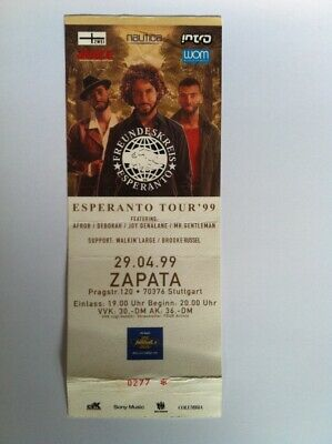 FREUNDESKREIS Orginal TICKET 29.04.1999 Stuttgart Zapata Germany Esperanto Tour