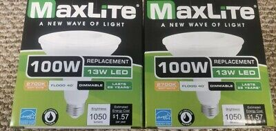 2 Maxlite LED Outdoor Flood Light Bulb,weatherproof,dimmable 100w FREE SHIPPING
