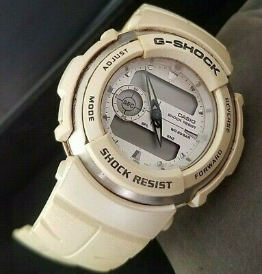 reputable site 83dbc bb50b PRE-OWNED CASIO G-SHOCK G-300LV 3750 Watch For Men White ...