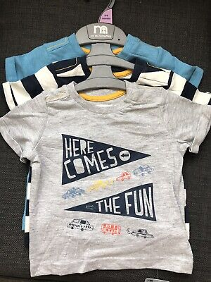 BNWT Mothercare Boys T-shirts 3 Pack 6-9 Months