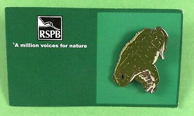 RSPB MVFN Pin Badge On Unnamed Card - R S P B Natterjack Toad