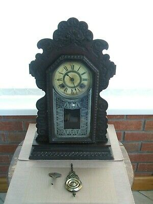 Antique Gingerbread American Mantle Clock Ansonia Clock Company New York Usa
