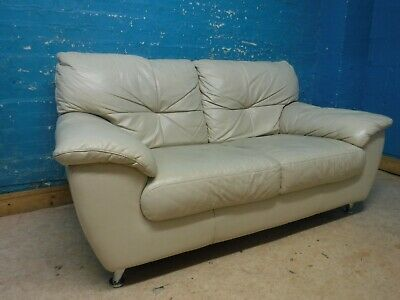 Italian Leather 2 Seater Sofa Used But Excellent Condition