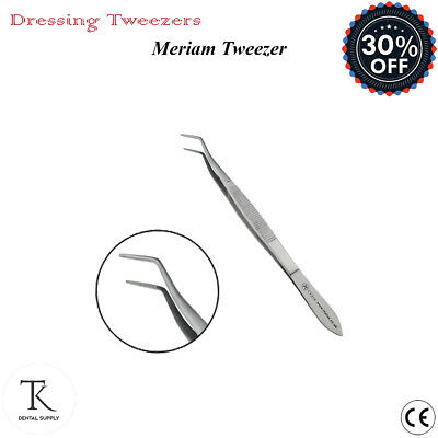 Dental Meriam Tweezers Cotton & Dressing Tissue Pliers Laboratory Surgical Tools