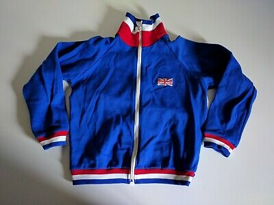Original Vintage Childs St Michael Great Britain Gymnastics Tracksuit In Blue.