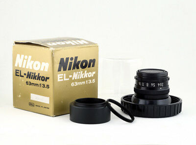 Nikon El-Nikkor 63mm f/3.5 - Enlarging - Macro - UV Lens + M42 - Rare