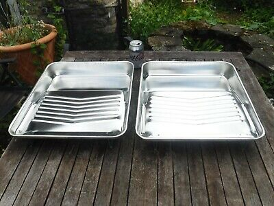 "2 x DULUX 12"" Trade Metal Roller Trays"