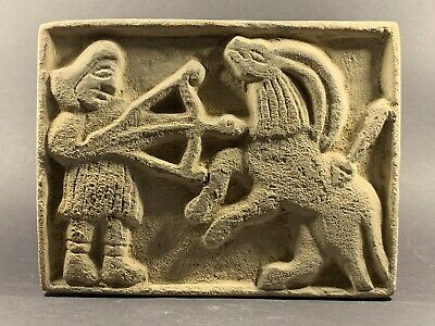Ancient Gandhara Stone Relief Panel Depicting Man Killing Beast Circa 200-300Ad