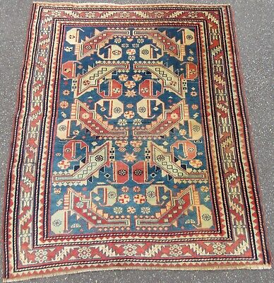 An Unusual Antique Caucasian Kasim Usag Rug (Variant On Design)